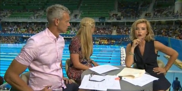 The swimming coverage was particularly eventful. Photo / BBC