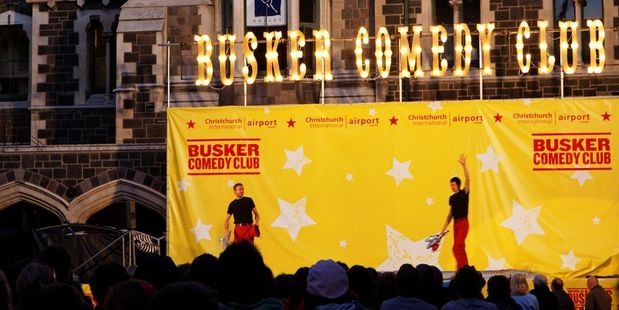 Performers at the World Buskers Festival in Christchurch. Photo / Creative Commons image by Flickr user Roger Wong