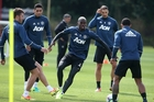 Paul Pogba takes centre stage at United training. Photo / Getty Images