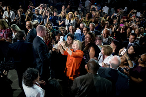 Democratic presidential candidate Hillary Clinton in Kissimmee, Florida. Photo / AP