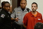 Chad Copley, 39, is led into a courtroom at the Wake County Judicial Centre in Raleigh, North Carolina. Photo / AP