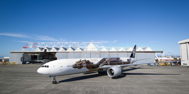 This is not the first dragon used to promote New Zealand. Air New Zealand previously painted Smaug the dragon from the Hobbit on its aircraft. Photo / Richard Robinson