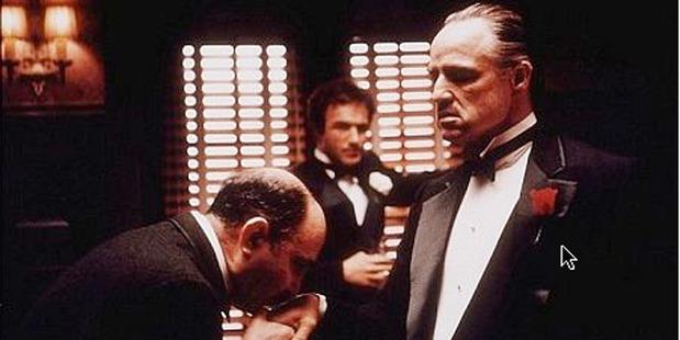 Marlon Brando as Vito Corleone Don Corleone in The Godfather.