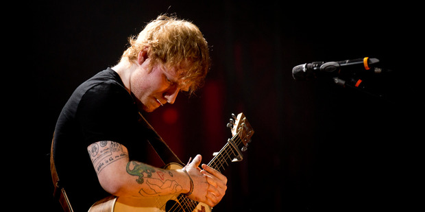 Ed Sheeran is being sued over similarities between his song Thinking Out Loud and Marvin Gaye's Let's Get It On. Photo/Dean Purcell