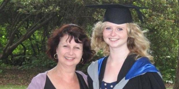 Alicia Sudden was inspired to write her thesis by her mum Diane. Photo / Supplied
