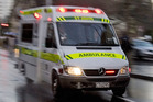 A motorcyclist suffered serious injuries after colliding with a car yesterday. Photo / File