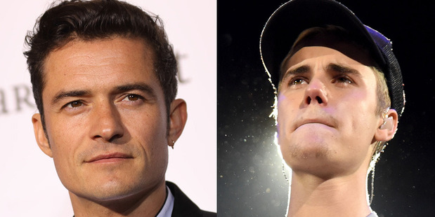 Justin Bieber and Orlando Bloom have been caught up in what could be described as a d**k measuring contest. Photos / Getty