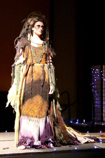 This garment titled Gaia's Grief and made by Waipawa's Debbie Hart won both the Lamb Country category as well as the overall Supreme Award in the adults' section.