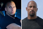 Fast and Furious stars Vin Diesel and Dwayne 'The Rock' Johnson.
