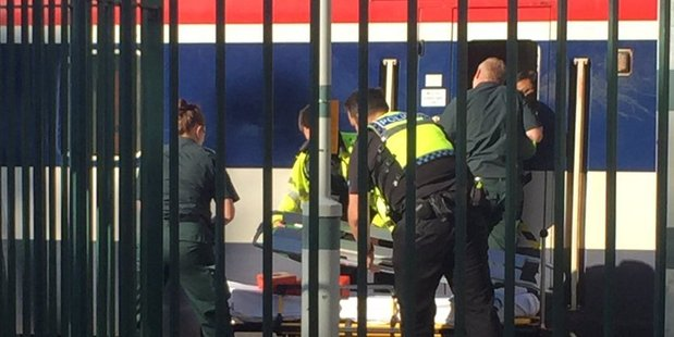 The man was pronounced dead at the scene. Photo / Twitter / @Lucie_Walker