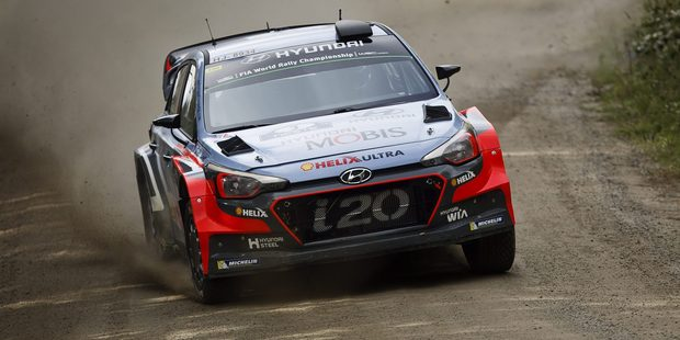 Belgian driver Thierry Neuville during WRC Finland. Photo / AP