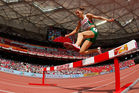 Silvia Danekova of Bulgaria competes in the Women's 3000 metres steeplechase in 2015. Photo / Getty