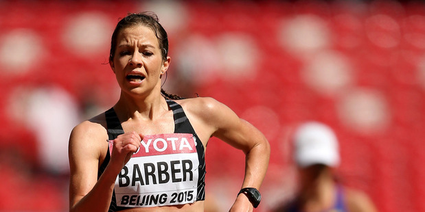 Alana Barber during the IAAF World Athletics Championships in Beijing. Photo / Getty Images