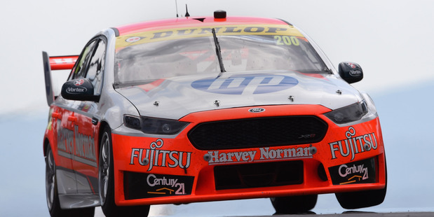 Simona De Silvestro drives the Harvey Norman Supergirls Ford during the Bathurst 1000. Photo / Getty Images