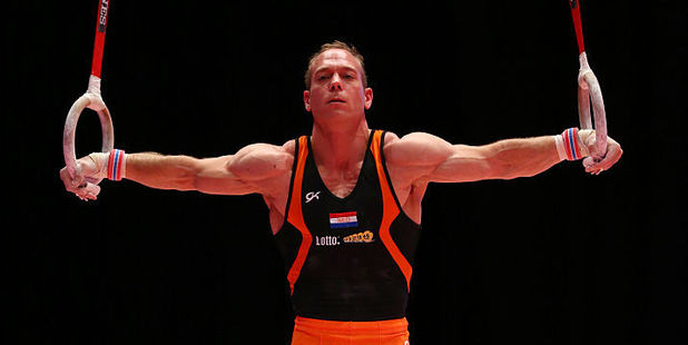 "Yuri van Gelder, the 2005 world champion on the rings, addressed his error, saying he hugely regretted his ""lapse"" and called himself ""incredibly stupid"". Photo / Getty Images"