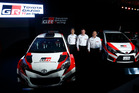 Toyota Motorsport at their launch ahead of a 2017 return to the WRC. Photo / Getty Images