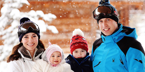 Catherine and Prince William with their children, Charlotte and George. Photo / Getty Images