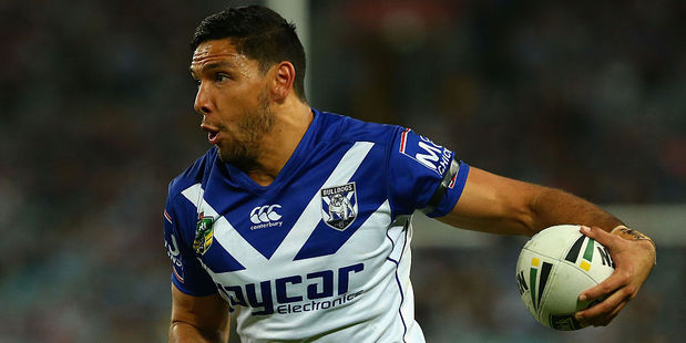 Curtis Rona playing for the Bulldogs. Photo / Getty