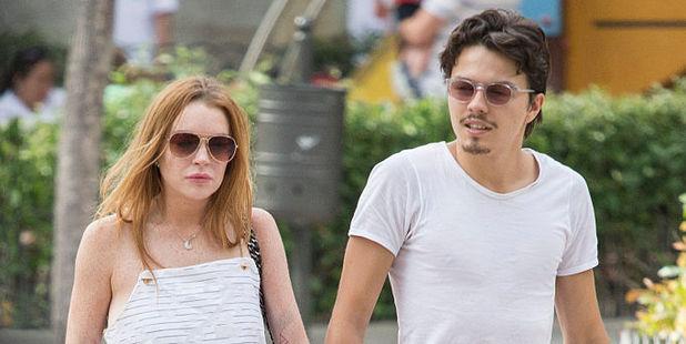 Lindsay Lohan and Egor Tarabasov in Madrid, Spain in June. Photo / Getty Images