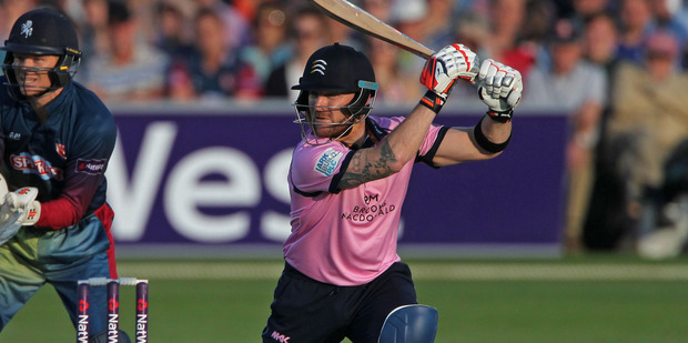 Brendan McCullum of Middlesex hits a boundary during the Natwest T20 Blast. Photo / Getty Images