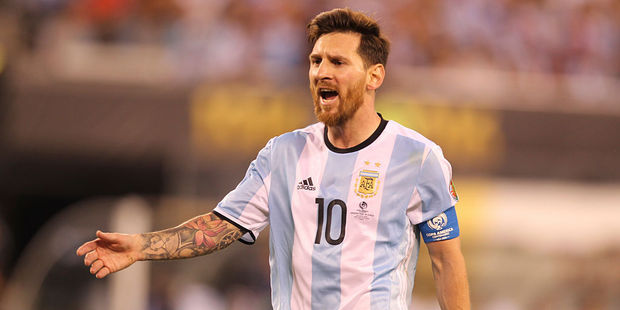 Lionel Messi lost the 2016 Copa America final and then announced his international retirement out of frustration. Photo / Getty Images