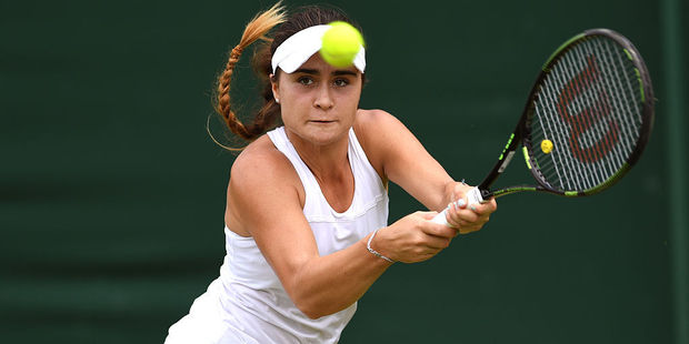 Gabriella Taylor was forced to withdraw from Wimbledon in the quarter-final of the girls' tournament. Photo / Getty Images
