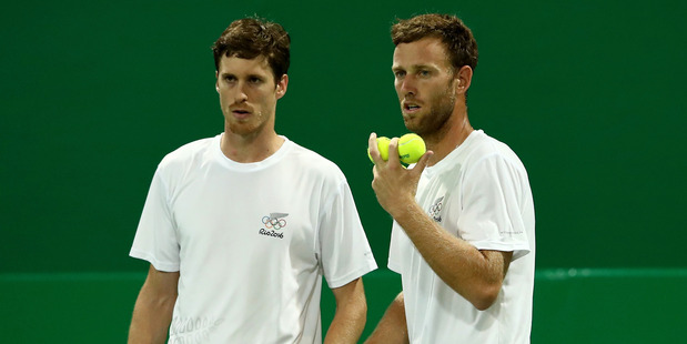Loading Marcus Daniell and Michael Venus in action at the Rio Olympics. Photo / Getty Images