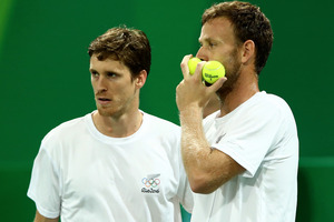 Marcus Daniell and Michael Venus in action during the Olympics. Photo / Getty Images