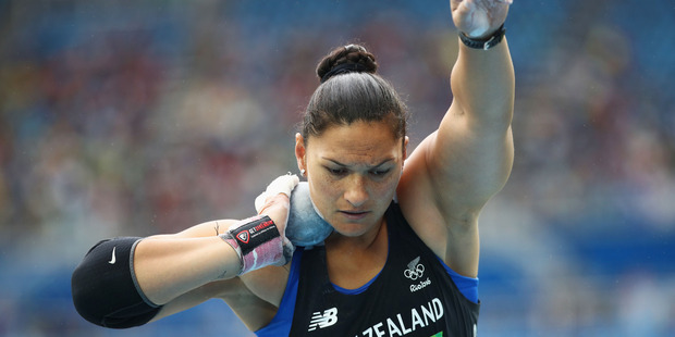 Valerie Adams has safely qualified for the final of the women's shot put at the Rio Olympics. Photo / Getty Images