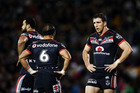 The Warriors were left dejected after a horror first half against the Rabbitohs. Photo / Getty