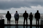 Big waves observation deck,  Marine Parade, Napier. 7 August 2016. Hawke's Bay Today photograph by Warren Buckland