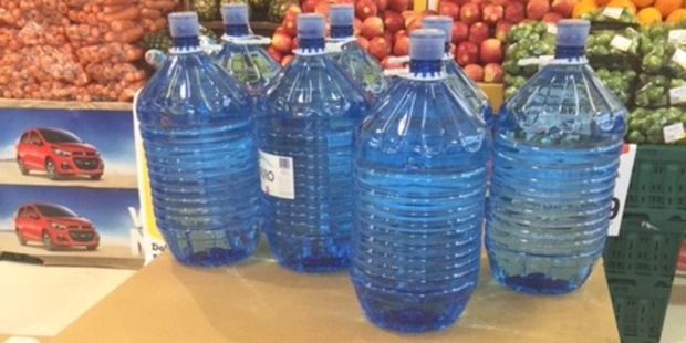 Bottled water has flown off supermarket shelves in Havelock North after the gastro bug outbreak in the town. Photo / Supplied
