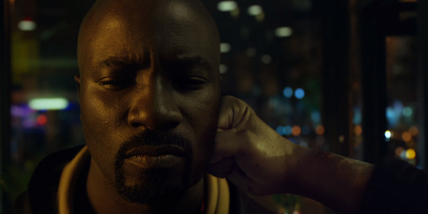Loading Actor Mike Colter stars as Luke Cage in the new Netflix original TV series, Luke Cage.