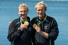 New Zealand's Hamish Bond and Eric Murray win gold in the mens pairs. Olympic Rowing, Rio Olympics Games 2016, Rio de Janeiro. Thursday 11 August, 2016. Copyright photo: John Cowpland / www.photosp