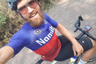 Namibia's Dan Craven didn't manage to finish Rio's road race cycle event. Photo / Twitter.