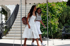 Malia Obama, left , attended Lollapalooza in Chicago. Photo / AP