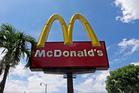 A McDonald's sign. Photo / AP