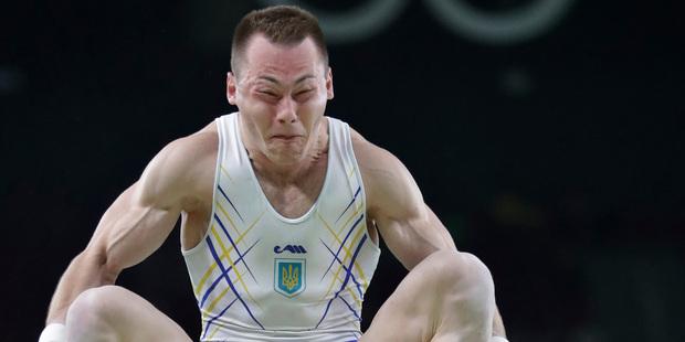 Loading Ukraine's Igor Radivilov performs on the vault during the artistic gymnastics men's qualification at the 2016 Summer Olympics in Rio de Janeiro. Photo / AP