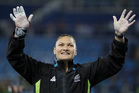 New Zealand's Valerie Adams wins the silver medal in the women's shot put. Photo / AP