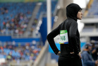 Saudi Arabia's Kariman Abuljadayel after competing in a women's 100-metre heat during the athletics competitions of the 2016 Summer Olympics. Photo / AP