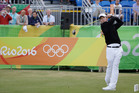 Danny Lee of New Zealand hits off the first tee during the opening round of the men's golf event at the 2016 Summer Olympics in Rio de Janeiro. Photo / AP