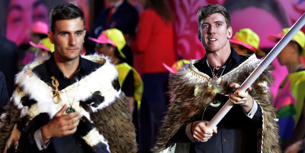 New Zealand flag bearers Blair Tuke (left) and Peter Burling (right). Photo / Getty Images