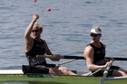 Eric Murray and Hamish Bond posted just one of several Kiwi rowing victories overnight. Photo / AP