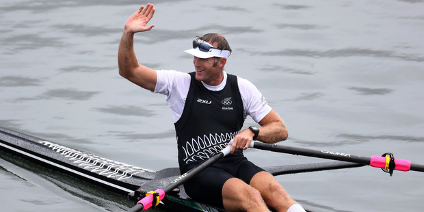 Mahe Drysdale is going for another gold in the single sculls final tomorrow morning. Photo / AP