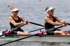 Sophie Mackenzie and Julia Edward added some success to a mixed day of results for Kiwi rowers overnight in Rio. Photo / AP