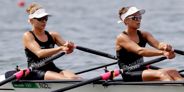 Loading Sophie Mackenzie and Julia Edward added some success to a mixed day of results for Kiwi rowers overnight in Rio. Photo / AP