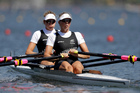 World champion double scullers Zoe Stevenson and Eve Macfarlane failed to qualify for their final after finishing fourth in their semifinal behind crews from Greece, Lithuania and the USA. Photo / AP