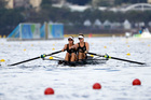 Genevieve Behrent and Rebecca Scown have safely progressed to the final of the women's pair. Photo / AP