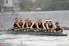 The fancied women's eight crew were second in their heat behind Great Britain and will have to race in the repechage for a place in the final. Photo / AP