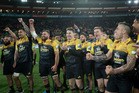 The victorious Hurricanes players will be getting a a victory parade through Wellington on Tuesday. Photo / Mark Mitchell